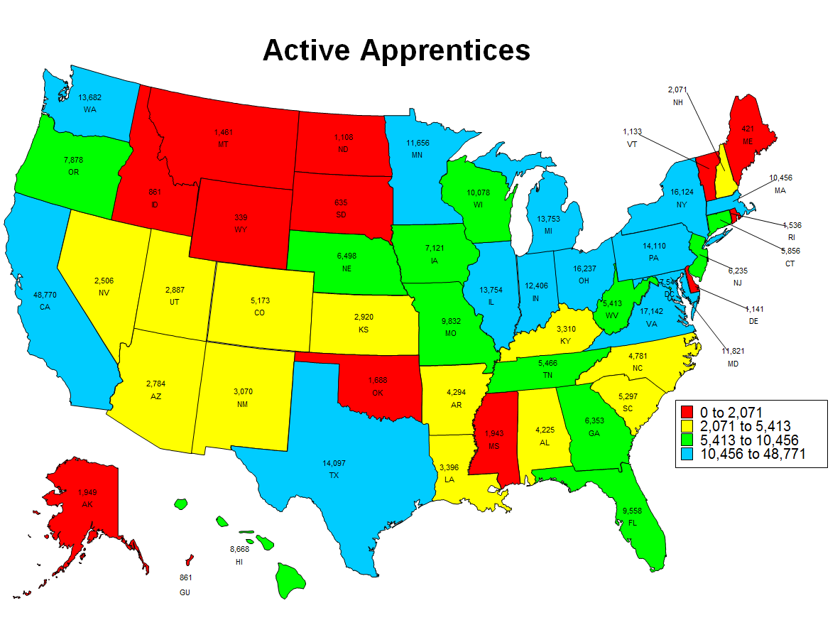 Image of Active Apprenticeship 2016 State Map