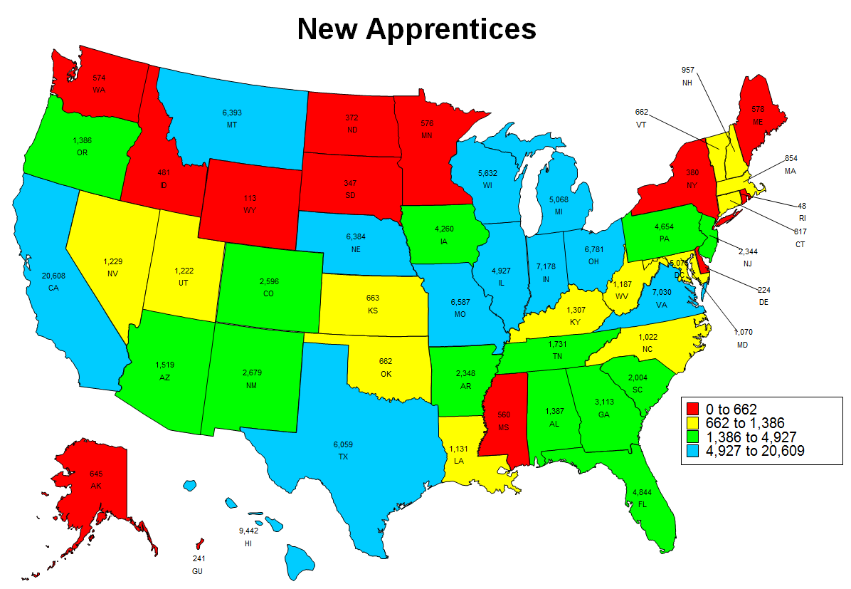 Image of New Apprenticeship 2016 State Map