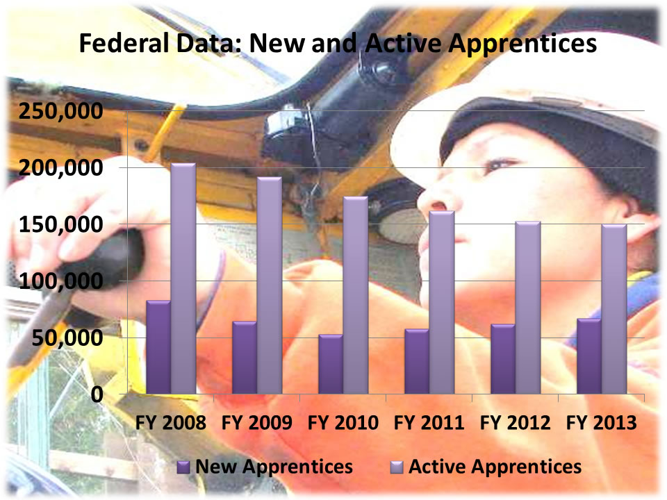 Federal Data: New and Active Apprentices 2013