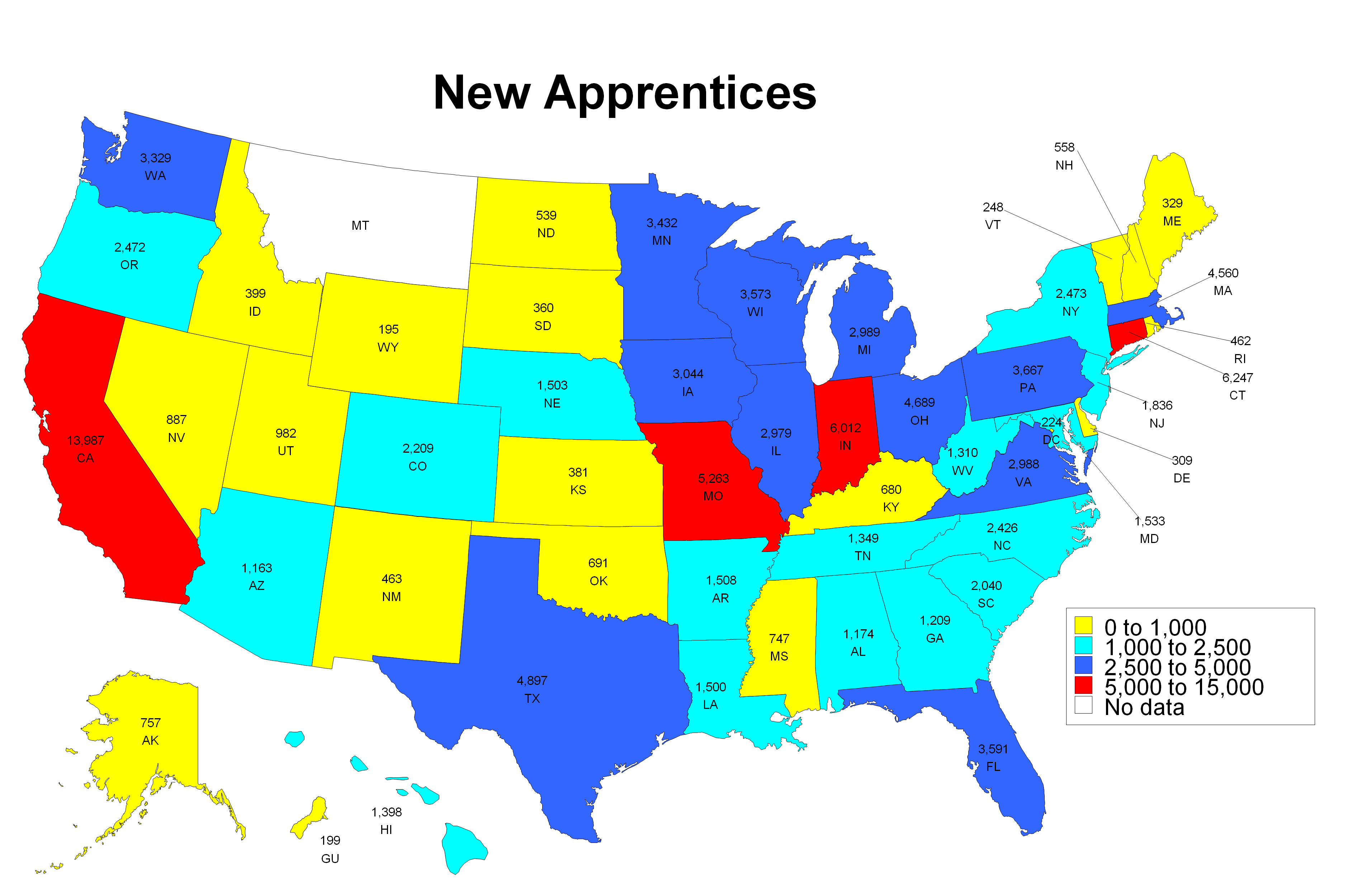 New Apprentices Map 2013