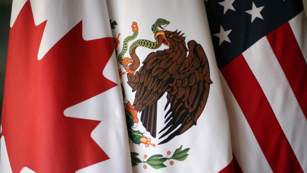 USMCA Flags of Canada, Mexico, and the United States