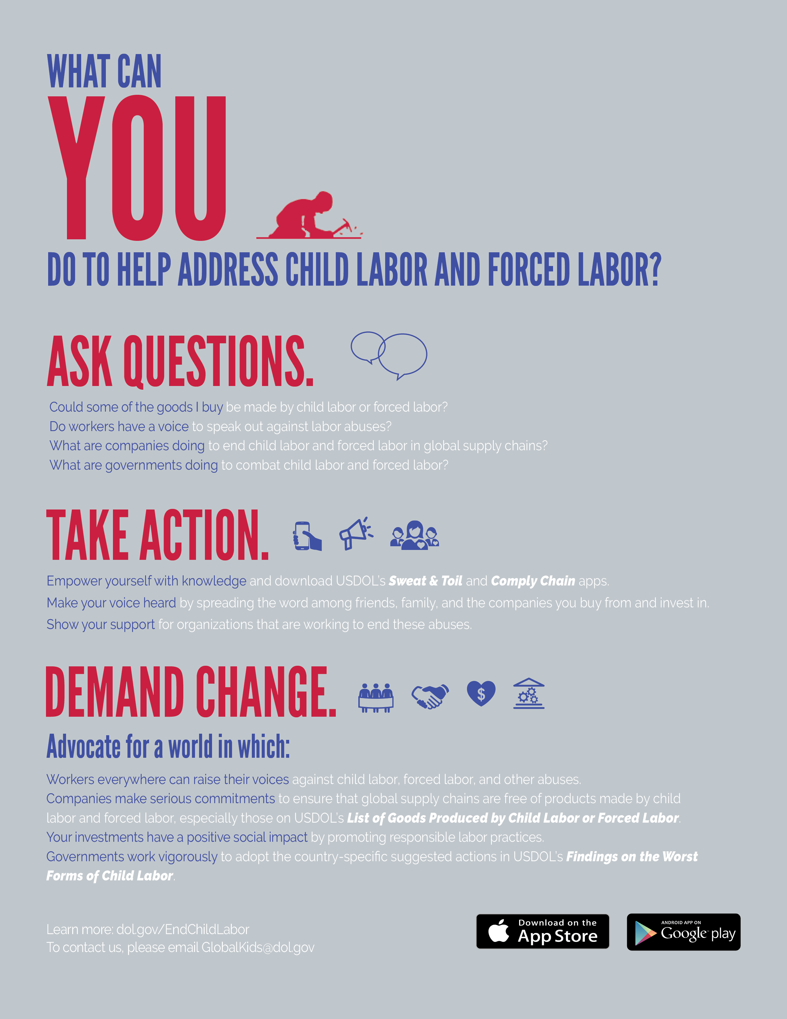 Child Labor Forced Labor Human Trafficking U S Department Of Labor