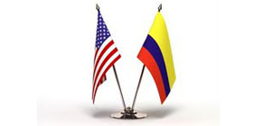 US and Colombia flags