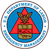 U.S. Department of Labor's Emergency Management Center seal
