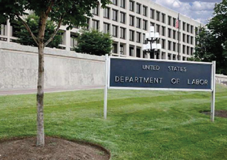 U.S. Department of Labor sign and exterior building