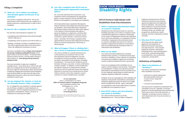 Disability Rights Fact Sheet