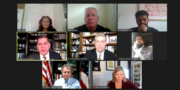 Secretary Marty Walsh joins Ohio leaders on a virtual roundtable.