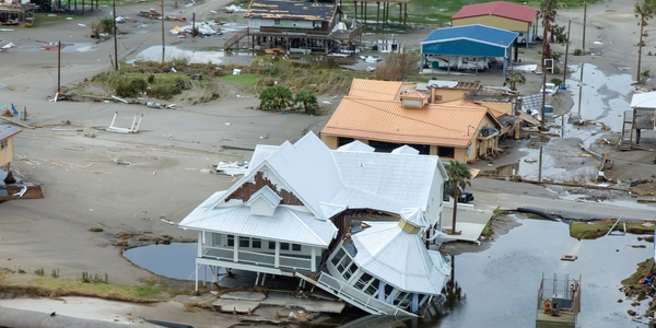 Aerial photo of homes damaged by Hurricane Ida. Source: DVIDS