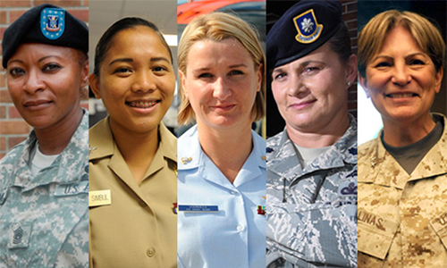 Women from all branches of the military.