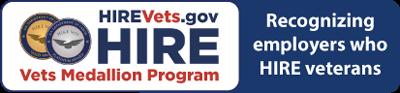 HIREVets.gov HIRE Vets Medallion Program - Recognizing employers who HIRE veterans - version 1