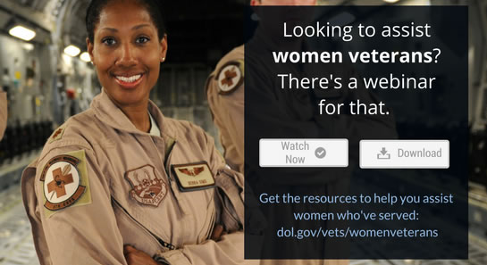 Looking to assist women veterans? There's a webinar for that.