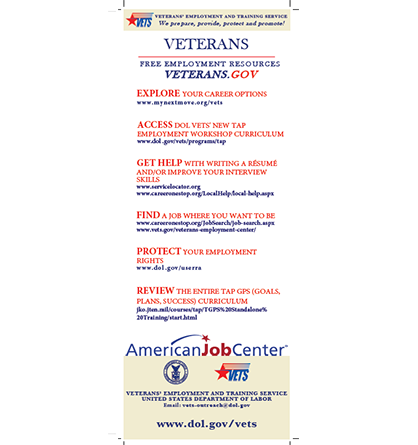 Veteran and Employer Resource Card