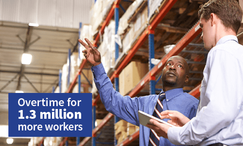Overtime for 1.3 Million more workers