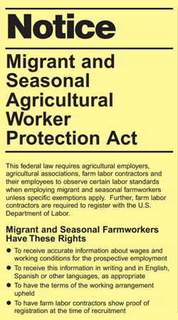Migrant and Seasonal Agricultural Worker Protection Act