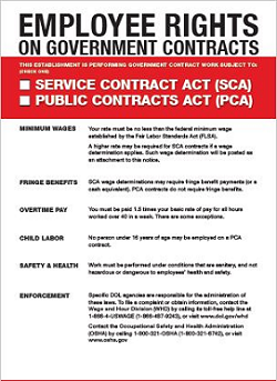 Employee Rights on Government contracts