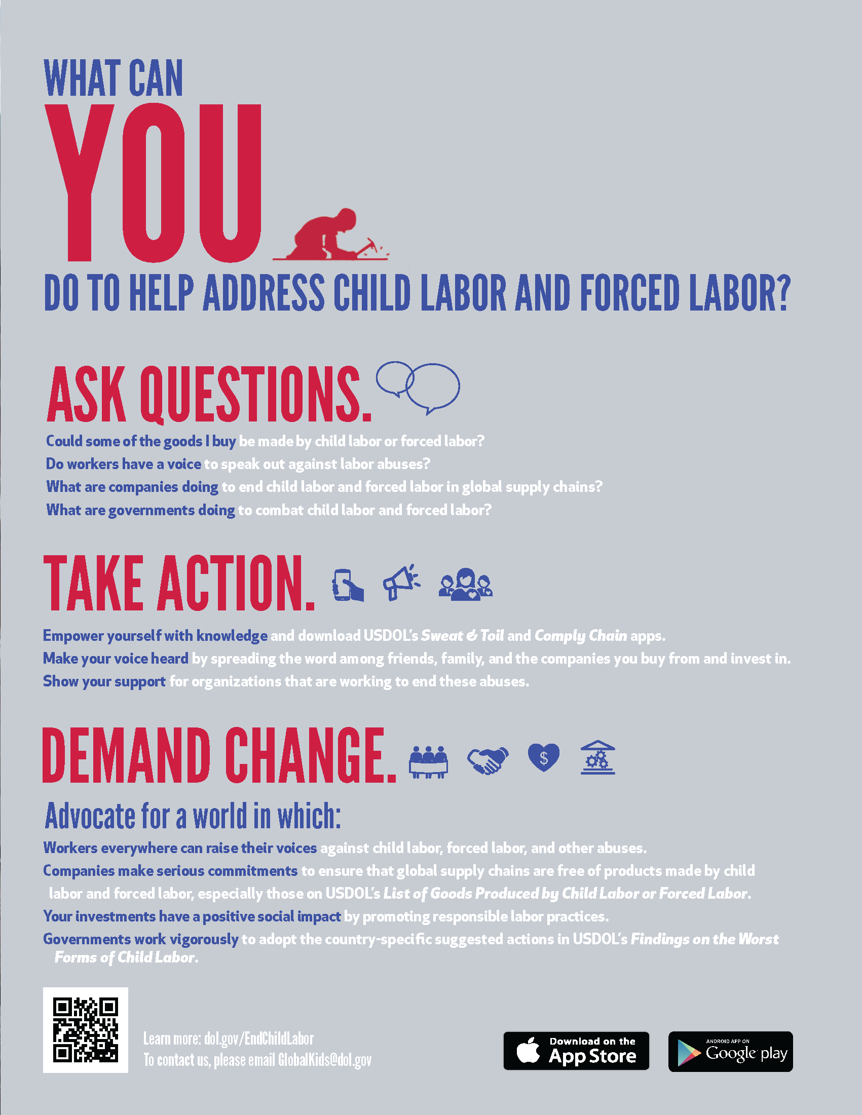 What Can You Do to Help Address Child Labor and Forced Labor?