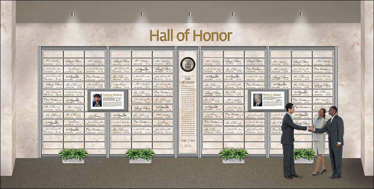 Artist's rendering of the new Hall of Honor