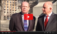 Gary Locke and his employer, Ben Bassi, discuss the advantages of on-the-job training.