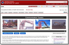 OSHA's Safety and Health Topics - Communication Tower Website