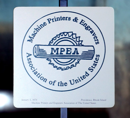 Machine Printers and Engravers Association of the United States logo