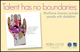 National Disability Employment Awareness Month (NDEAM) poster