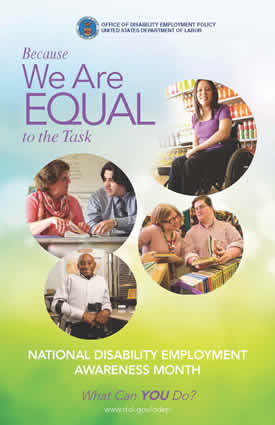 NDEAM 2013 poster: Because We Are EQUAL to the Task