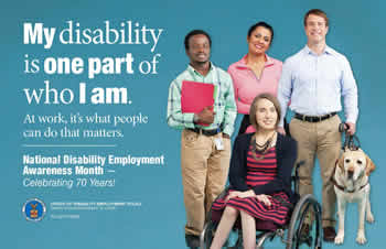 NDEAM 2015 poster: My disability is one part of who I am.