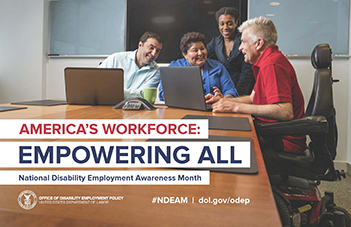 NDEAM 2018 poster: America's Workforce: Empowering All