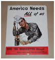 Poster from 1945: America Needs ALL of Us – Hire the Handicapped through State Employment Service Local Offices