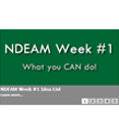 Screen shot from 31 Days of NDEAM slideshow: NDEAM Week #1 - What you CAN do