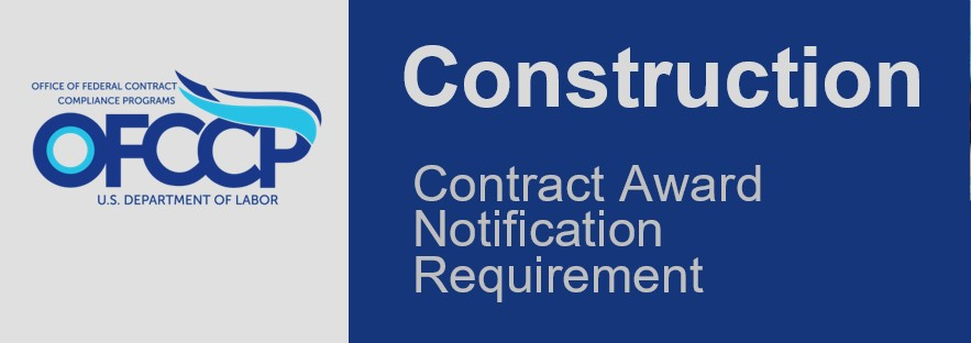 OFCCP Banner - Contract Award Notification Requirement