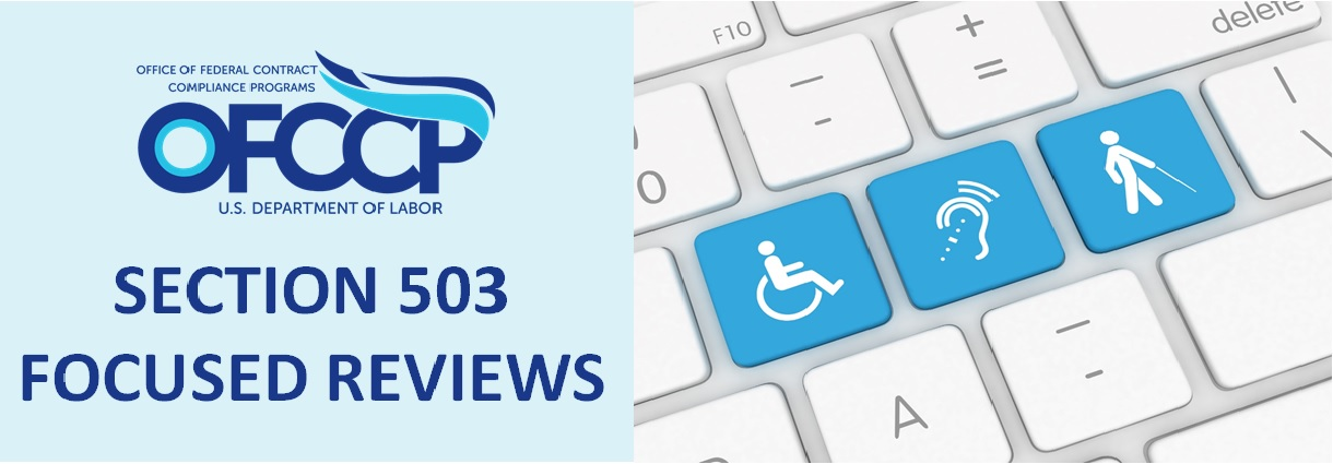 OFCCP Banner - Section 503 Focused Review