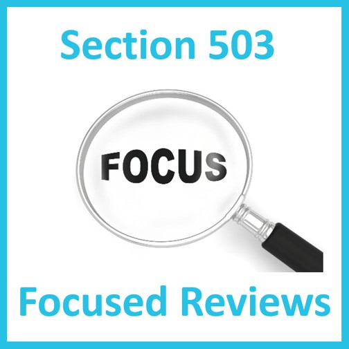 Section 503 Focus