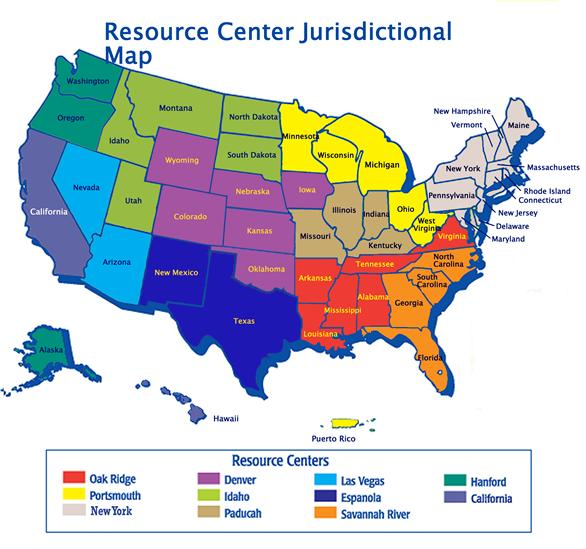 US Department Of Labor Office Of Workers Compensation - Us energy map