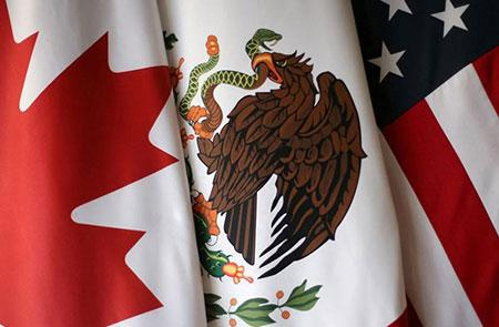 Flags of Canada, Mexico, and the United States