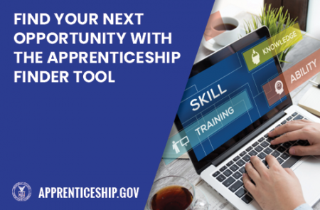 Find your next opportunity with the apprenticeship finder tool.