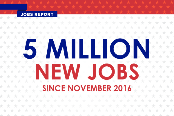 Jobs Report - 5 million new jobs since November 2016